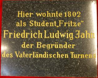 KU000212; Jahn, Friedrich Ludwig; Gedenktafel
