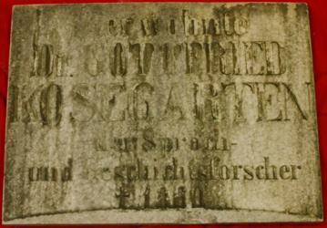 KU000213<br>Kosegarten, Gottfried<br>Gedenktafel