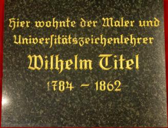 Gedenktafel Gedenktafel Titel, Wilhelm