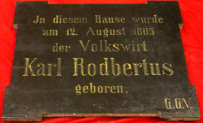 Gedenktafel Rodbertus, Karl