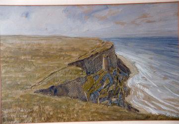 KU000604; Uferabstürze Ahrenshoop; Gemälde