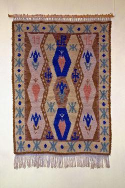 KU000527; Ornamentteppich; Freester Fischerteppich