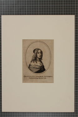 KU000781; Schweden, Christina Königin v. (1629-1689); Porträtgrafik