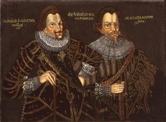 Gemälde Philipp-Julius von Pommern-Wolgast und Herzog Bogislaw. XIV. von Pommern (Doppelbildnis)