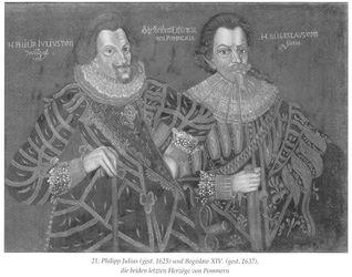 KU000072; Philipp-Julius von Pommern-Wolgast und Herzog Bogislaw. XIV. von Pommern (Doppelbildnis); Gemälde