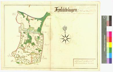 Friedrichshagen (Fredrichshagen) Amt/Distrikt Eldena Altkarten; Thematische Karten - Politik-, Rechts- und Verwaltungskarten