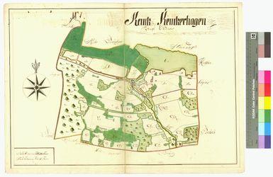 Kemnitz (Kemtz), Kemnitzerhagen (Kemtzerhagen) Amt/Distrikt Eldena Altkarten; Thematische Karten - Politik-, Rechts- und Verwaltungskarten