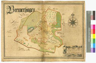 Bremerhagen Amt/Distrikt Greifswald Altkarten; Thematische Karten - Politik-, Rechts- und Verwaltungskarten