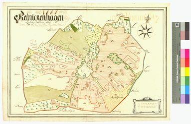 Reinkenhagen (Reinickenhagen) Amt/Distrikt Greifswald Altkarten; Thematische Karten - Politik-, Rechts- und Verwaltungskarten