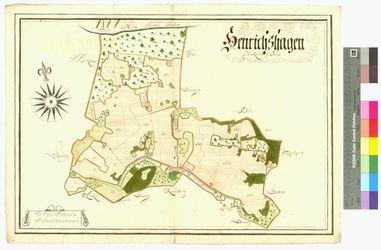 Niederhinrichshagen (Hinrichshagen) , Oberhinrichshagen (Hinrichshagen) Amt/Distrikt Greifswald Altkarten; Thematische Karten - Politik-, Rechts- und Verwaltungskarten