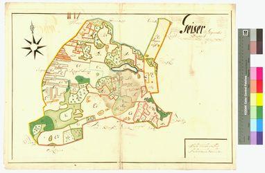 Hoppenhuff, Jeeser (Geser, Geiser) Amt/Distrikt Greifswald Altkarten; Thematische Karten - Politik-, Rechts- und Verwaltungskarten