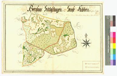 Berglase, Gützlaffshagen (Guetzlaffshagen), Groß-Stubben Amt/Distrikt Rügen Altkarten; Thematische Karten - Politik-, Rechts- und Verwaltungskarten