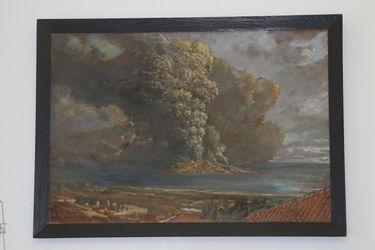 Gemälde Vulkanausbruch