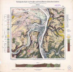 Geologische Karte von Preußen und benachbarten deutschen Ländern, [5611] Koblenz Thematische Karten - Physische Karten