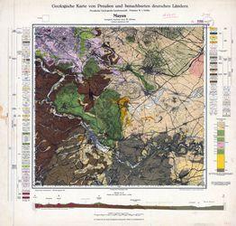 Geologische Karte von Preußen und benachbarten deutschen Ländern, [5609] Mayen Thematische Karten - Physische Karten