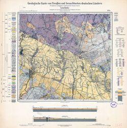 Geologische Karte von Preußen und benachbarten deutschen Ländern, [5575] Leschnitz Thematische Karten - Physische Karten