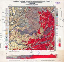 Geologische Karte von Preußen und benachbarten deutschen Ländern, 5566 Koenigshain Thematische Karten - Physische Karten
