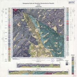 5535 Lobenstein, Geologische Karte der Deutschen Demokratischen Republik Thematische Karten - Physische Karten