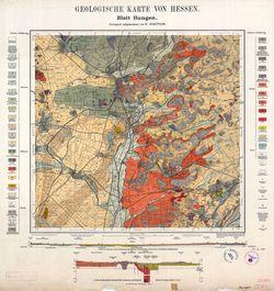 [5519] Hungen Geologische Karte von Hessen Thematische Karten - Physische Karten