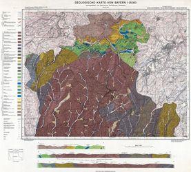 5434 Leutenberg, Geologische Karte von Bayern 1:25000 Thematische Karten - Physische Karten