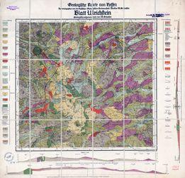 Geologische Karte von Hessen, [5421] Blatt Ulrichstein Thematische Karten - Physische Karten