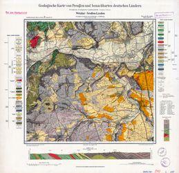 [5417] Wetzlar-Großen-Linden, Geologische Karte von Preußen und benachbarten deutschen Ländern Thematische Karten - Physische Karten
