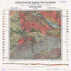 Nr.129 [5345] Zöblitz, Geologische Karte von Sachsen Thematische Karten - Physische Karten