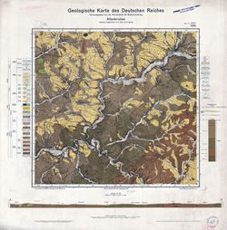 3100 5311 Altenkirchen, Geologische Karte des Deutschen Reiches Thematische Karten - Physische Karten