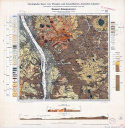 5309 Honnef-Königswinter, Geologische Karte von Preußen und benachbarten deutschen Ländern Thematische Karten - Physische Karten