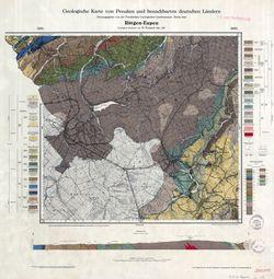 3091 3092 [5302 5303] Rötgen-Eupen, Geologische Karte von Preußen und benachbarten deutschen Ländern Thematische Karten - Physische Karten