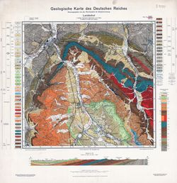 3072 5262 Landeshut, Geologische Karte des Deutschen Reiches Thematische Karten - Physische Karten