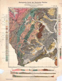 5261 5361 Schmiedeberg-Tschöpsdorf, Geologische Karte des Deutschen Reiches Thematische Karten - Physische Karten
