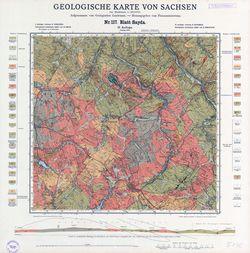 Nr.117 [5246] Sayda, Geologische Karte von Sachsen Thematische Karten - Physische Karten