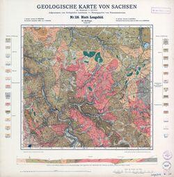 Nr.116 [5245] Lengefeld, Geologische Karte von Sachsen Thematische Karten - Physische Karten