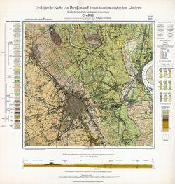 [4605] Crefeld, Geologische Karte von Preußen und benachbarten deutschen Ländern; Höppner, Krause, 1928, KW/C20.04/00001/4605