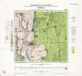 4545 Mühlberg, Geologische Karte von Deutschland Thematische Karten - Physische Karten