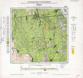 4445 Übigau, Geologische Karte von Deutschland Thematische Karten - Physische Karten