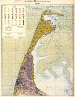 [1011] Insel Sylt, Geologische Karte von Deutschland Thematische Karten - Physische Karten