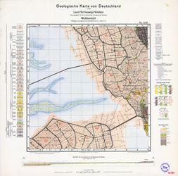 1419 Wobbenbuell, Geologische Karte von Deutschland 1:25000, Land Schleswig-Holstein Thematische Karten - Physische Karten