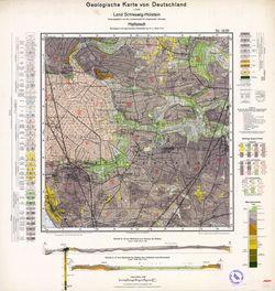 1420 Hattstedt, Geologische Karte von Deutschland 1:25000, Land Schleswig-Holstein Thematische Karten - Physische Karten
