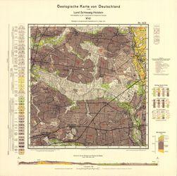 1421 Vioel, Geologische Karte von Deutschland 1:25000, Land Schleswig-Holstein Thematische Karten - Physische Karten