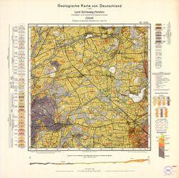 1422 Juebeck, Geologische Karte von Deutschland 1:25000, Land Schleswig-Holstein Thematische Karten - Physische Karten