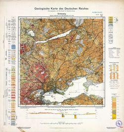 1423 Schleswig, Geologische Karte des Deutschen Reiches Thematische Karten - Physische Karten