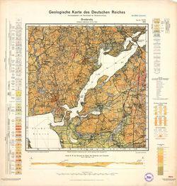 1424 Brodersby, Geologische Karte des Deutschen Reiches Thematische Karten - Physische Karten