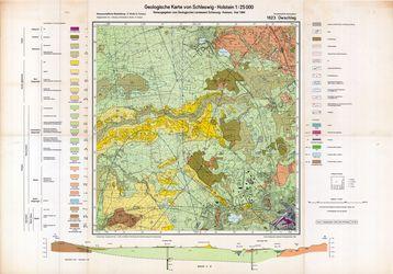 1623 Owschlag, Geologische Karte von Schleswig-Holstein 1:25000 Thematische Karten - Physische Karten