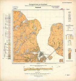 1644 Stralsund, Geologische Karte von Deutschland Thematische Karten - Physische Karten