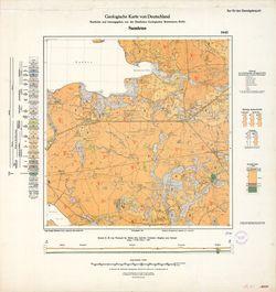 1645 Samtens, Geologische Karte von Deutschland Thematische Karten - Physische Karten