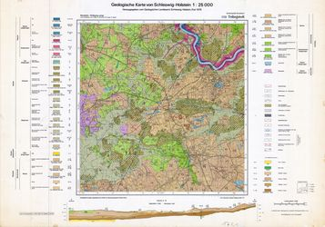 1721 Tellingstedt, Geologische Karte von Schleswig-Holstein 1:25000 Thematische Karten - Physische Karten