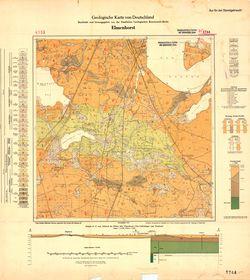 1744 Elmenhorst, Geologische Karte von Deutschland Thematische Karten - Physische Karten