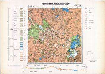 1830 Neustadt, Geologische Karte von Schleswig-Holstein 1:25000 Thematische Karten - Physische Karten